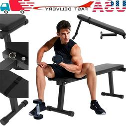 Flat Dumbbell Bench Workout Weightlifting Gym For Indoor Spo
