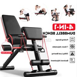 Foldable Dumbbell Bench 7 Gears Backrest Sit Up AB Abdominal