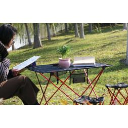 Foldable Folding Desk Outdoor BBQ Dining Bench Side Table Ba