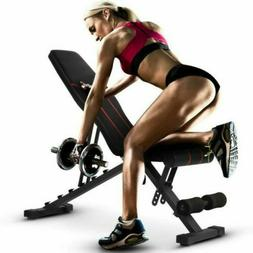 Adjustable Weight Bench Incline Decline Foldable Full Body W