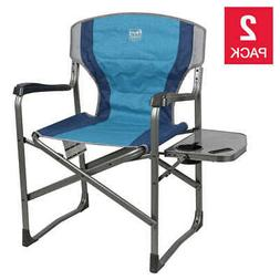 Folding Directors Chair 2-pack W/ Side Table Camp Picnic Out