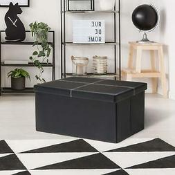 Folding Toy Box Chest Faux Leather Bedroom Ottomans Bench Fo