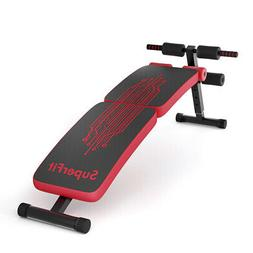 Folding Weight Bench Adjustable Sit-up Board Curved Decline