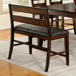 Furniture of America Gibson Counter Height Dining Bench, Dar