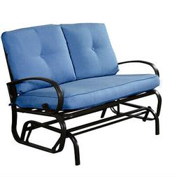 Glider Outdoor Patio Rocking Bench Loveseat Cushioned Seat S