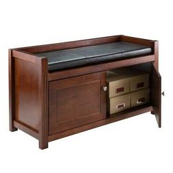 Winsome Wood 2 Piece Hall Storage Bench with Cushion Seat