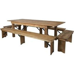 Flash Furniture HERCULES Series 8' x 40'' Antique Rustic Fol