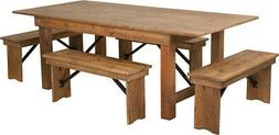 Flash Furniture HERCULES Series 7' x 40'' Antique Rustic Fol