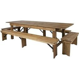 Flash Furniture HERCULES Series 9' x 40'' Antique Rustic Fol
