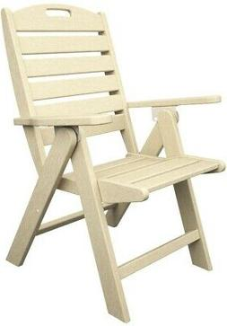 Highback Outdoor Patio Dining ArmChair Folded Plastic No Cus