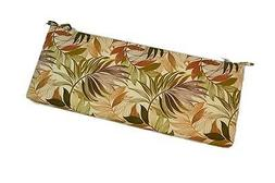 In Outdoor Brown Green Palm Leaf Cushion for Bench / Swing /