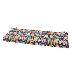 Pillow Perfect Outdoor Ash Hill Bench Cushion, Navy