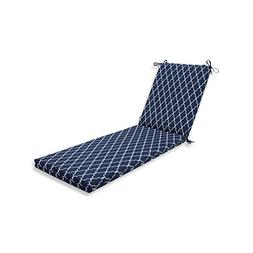 Pillow Perfect Outdoor/Indoor Garden Gate Navy Chaise Lounge