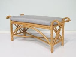 Indoor Rattan Furniture Bench with Cushion