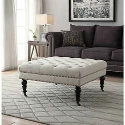 isabelle square tufted ottoman