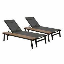 john outdoor mesh and aluminum chaise lounge