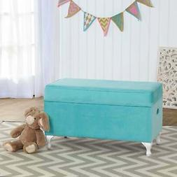 HomePop K7579-B219 Youth Storage Bench, Teal