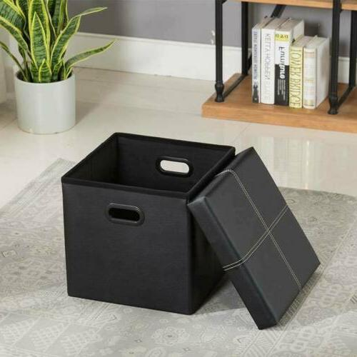 """15"""" Storage Bench Box Lounge Foot Leather"""