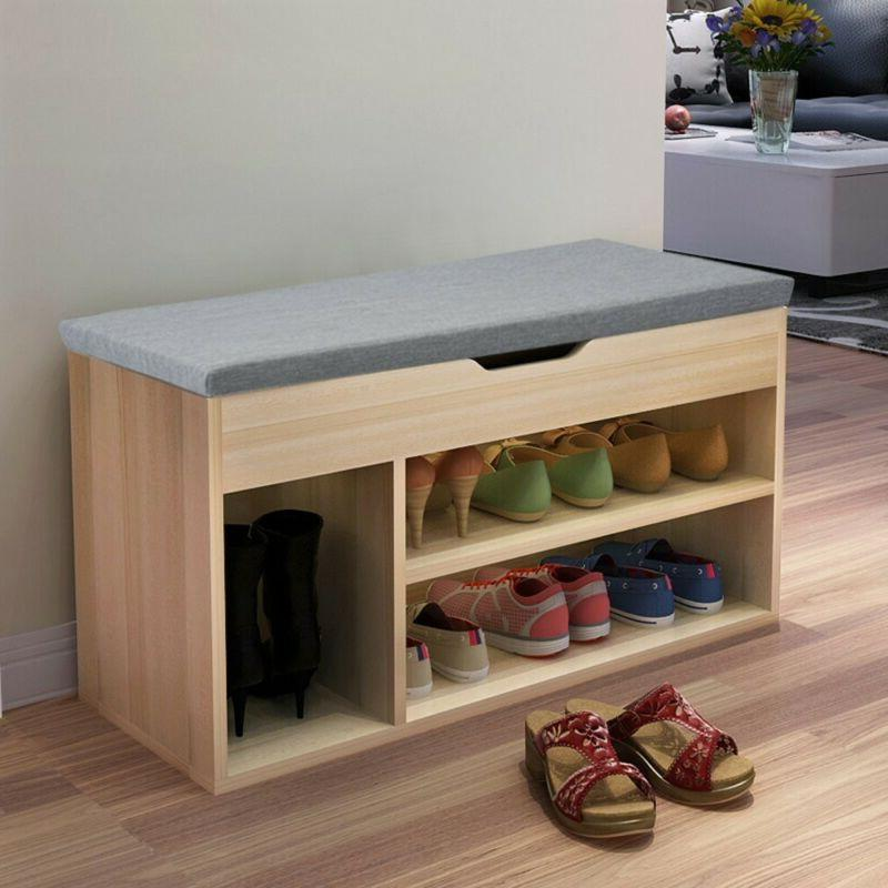 Hallway Storage Bench Seat Shoe Cabinet With Drawers Wooden
