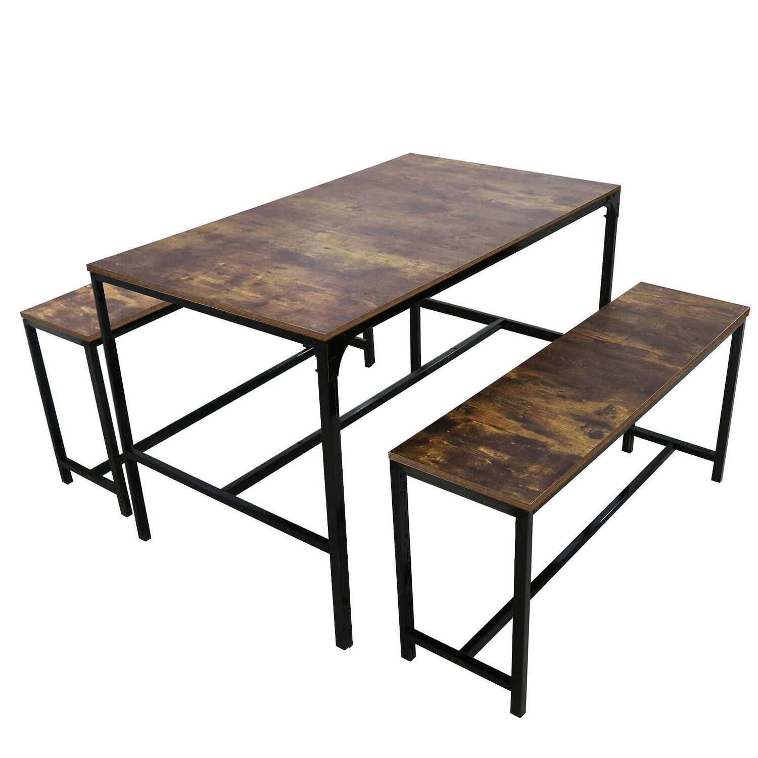 3 piece dining table set w 2
