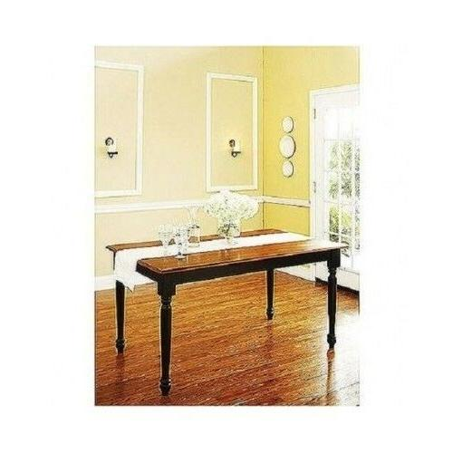 3 Piece Solid Dining Set Table Benches Kitchen