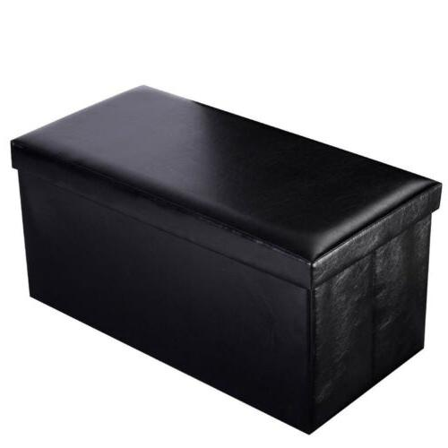 30-Inch Bench Ottoman Chest Folding Foot Faux