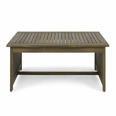 306041 grace outdoor acacia wood coffee table