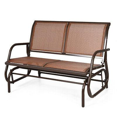 48 outdoor patio swing glider bench chair