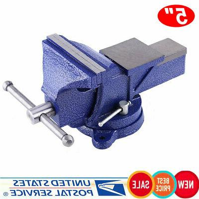 """5"""" Bench Vise Swivel Table top Clamp Heavy Vice"""