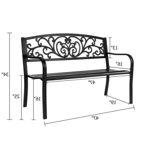 """50"""" Bench Aluminum Outdoor Chair Love Seats Benches"""