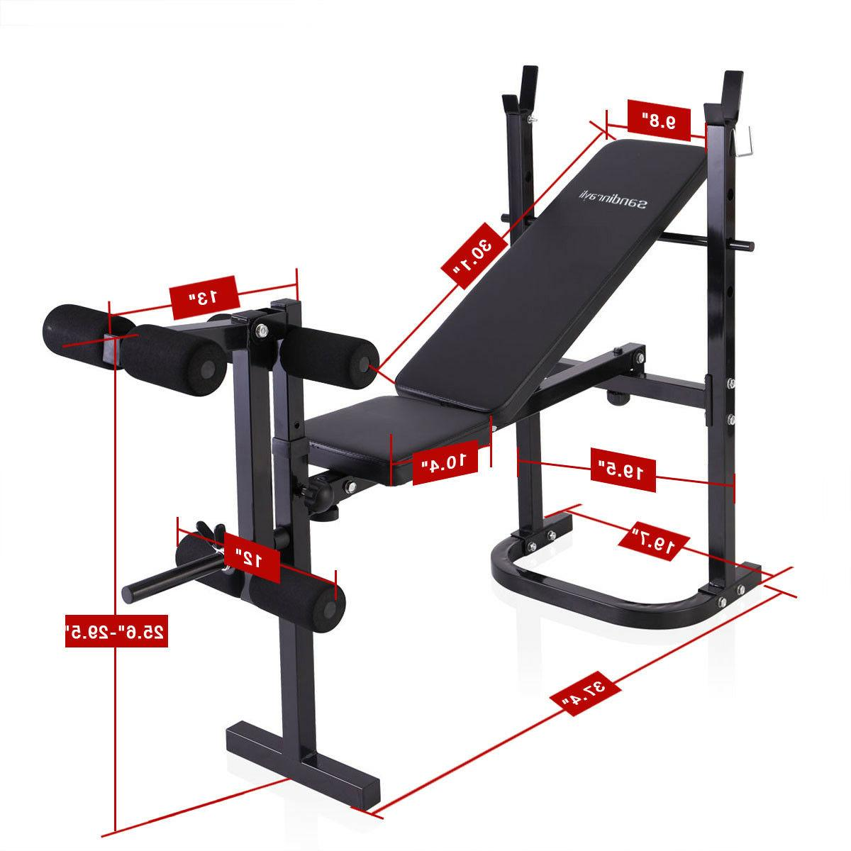 Weight Bench Press Exercise Adjustable