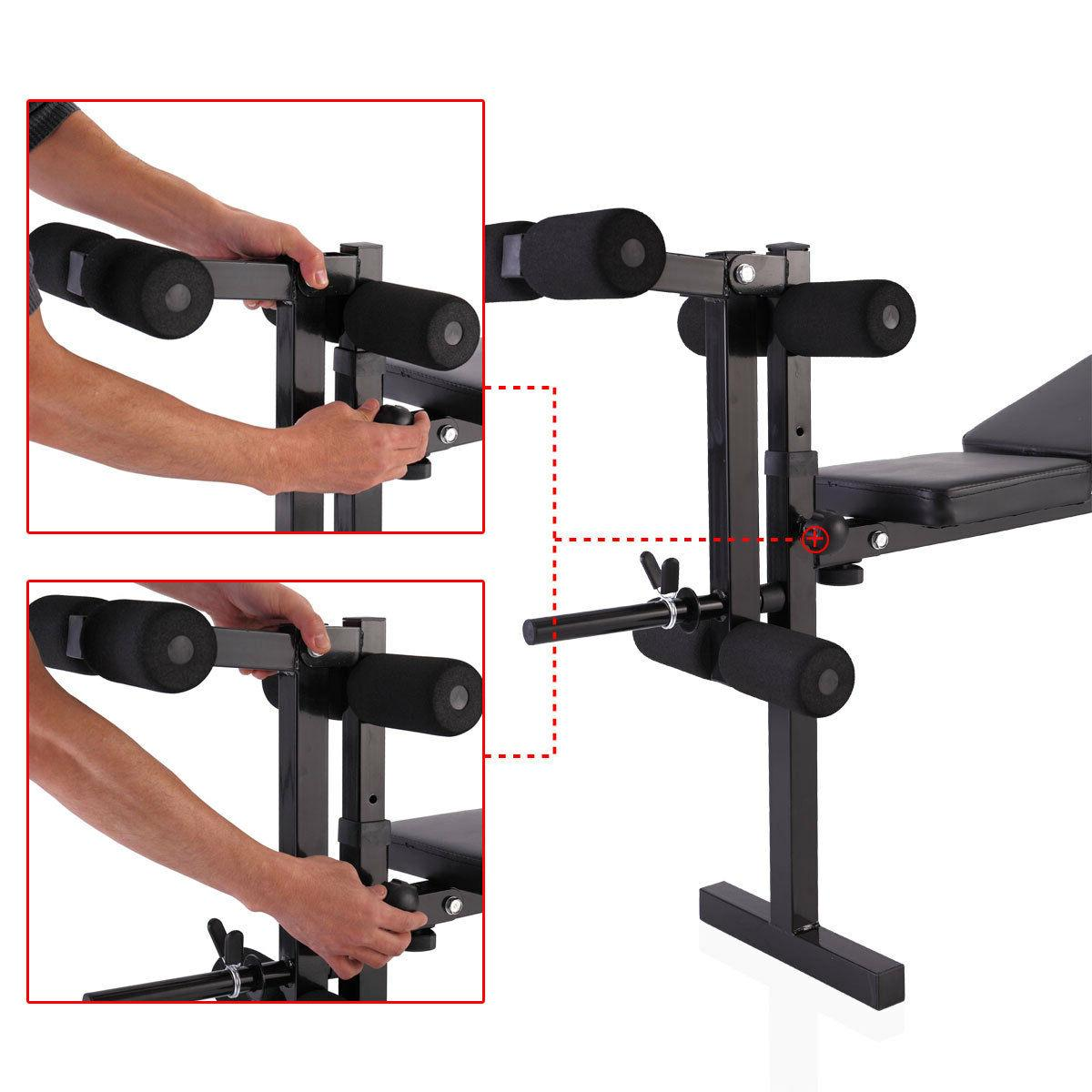 Weight Bench Barbell Press Adjustable Incline