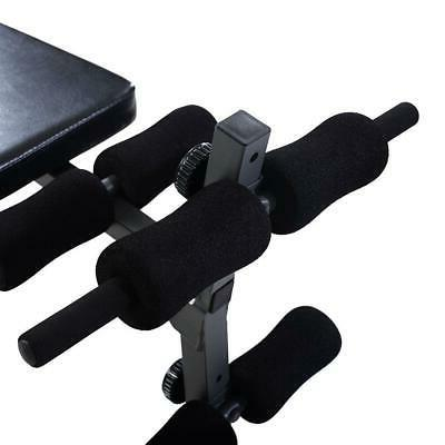 Adjustable AB Up Decline Weight Dumbbell Workout Training Black