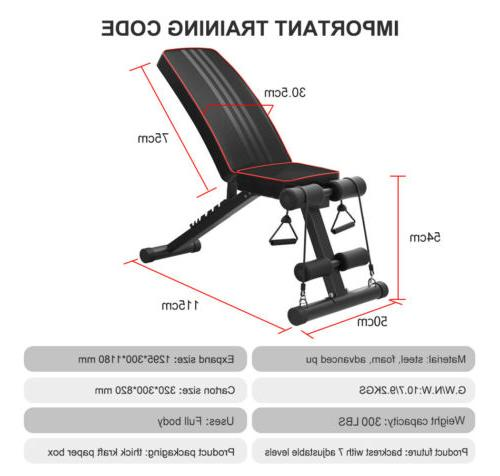Adjustable Bench Press Flat Incline Fitness Exercise Gym
