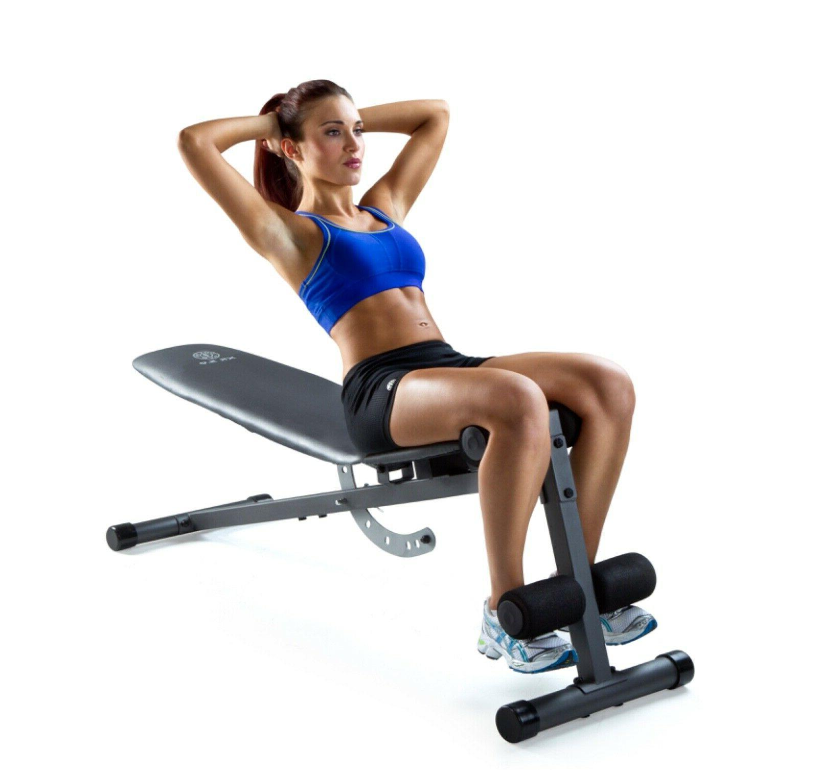 ADJUSTABLE WEIGHT Flat Incline Decline Exercise Workout Training
