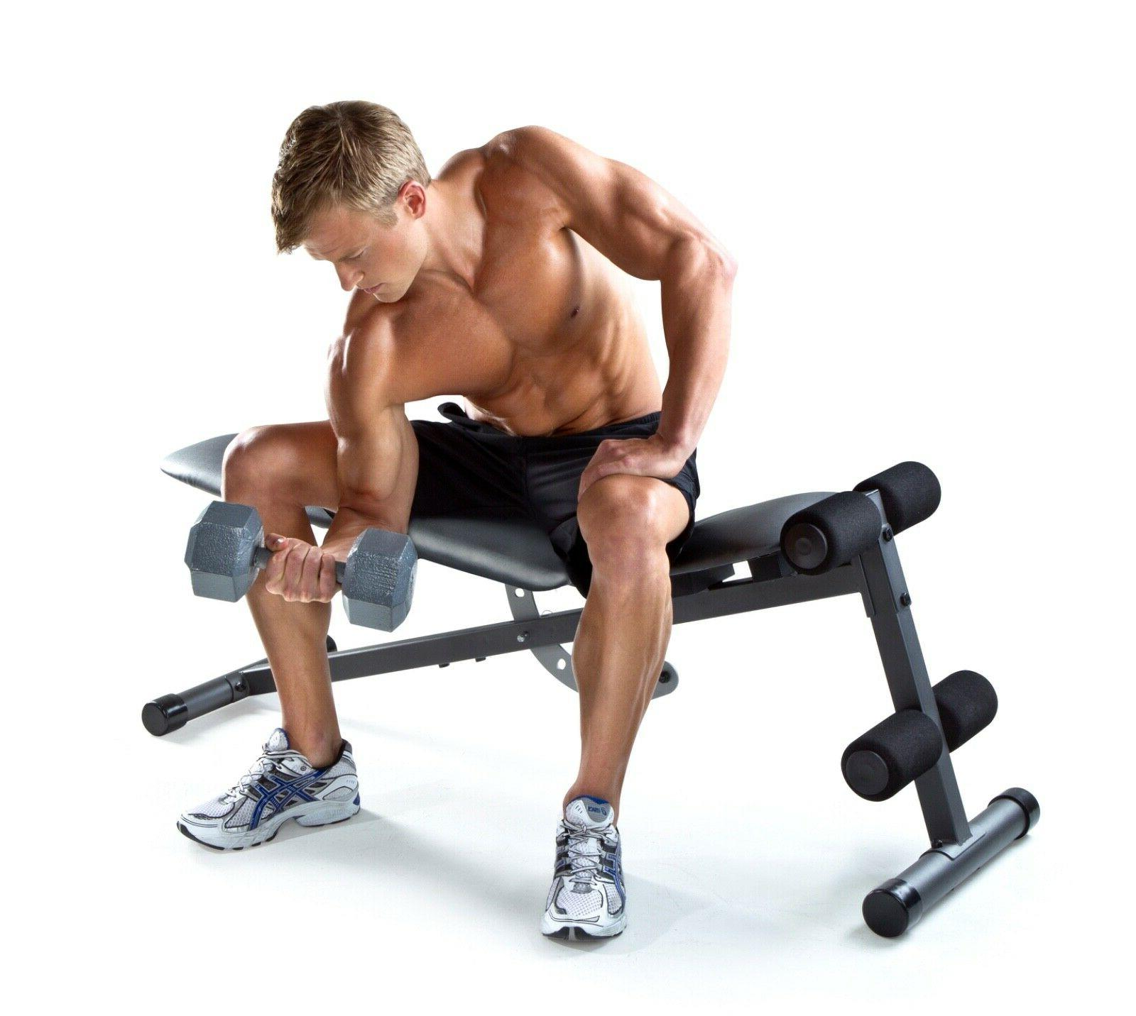 ADJUSTABLE BENCH Incline Decline Exercise Strength Workout Training
