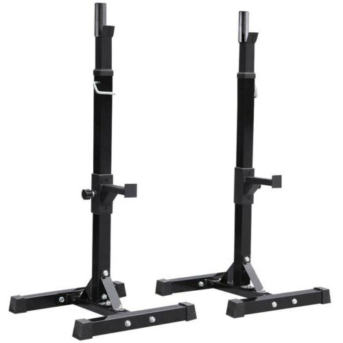 Adjustable Squat Rack Gym Bench Press Barbell Stand Olympic