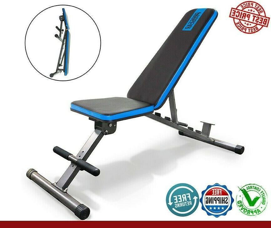 adjustable weight bench flat incline decline exercise