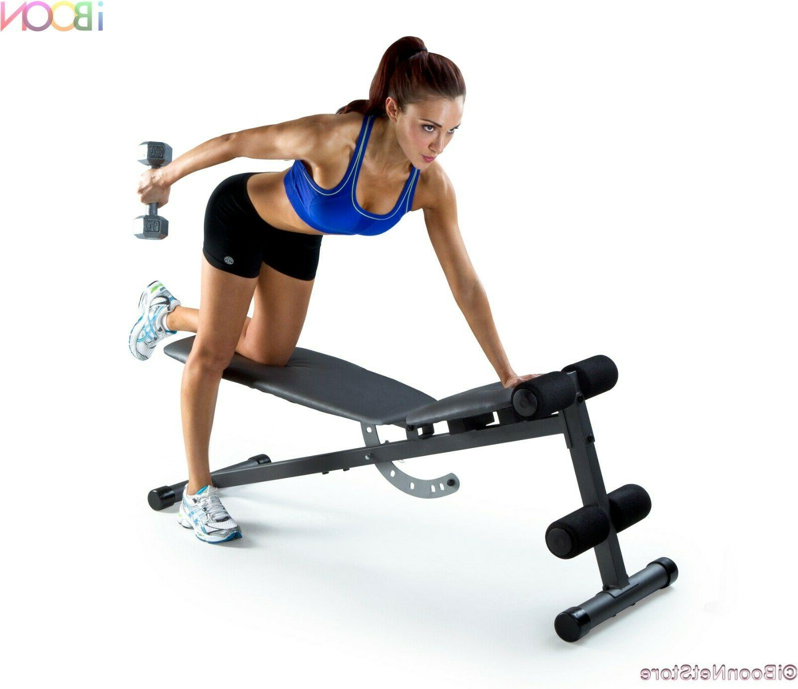 ADJUSTABLE WEIGHT BENCH Incline Strength Workout Training
