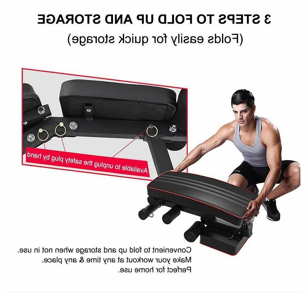 Adjustable Bench Sit Up Lifting Full Body US