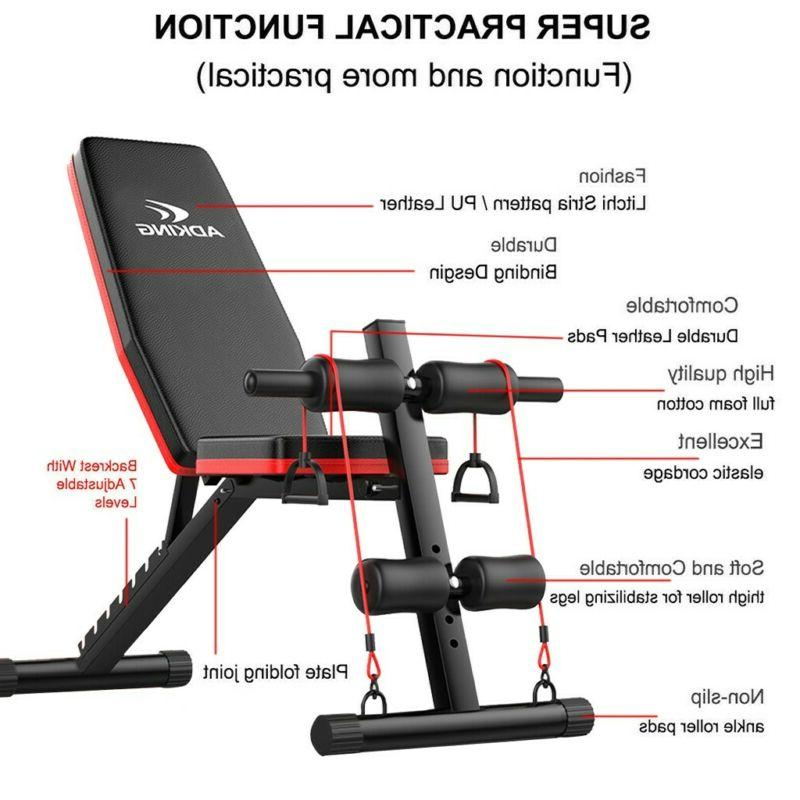 Adjustable Bench Incline Decline Foldable Workout Training