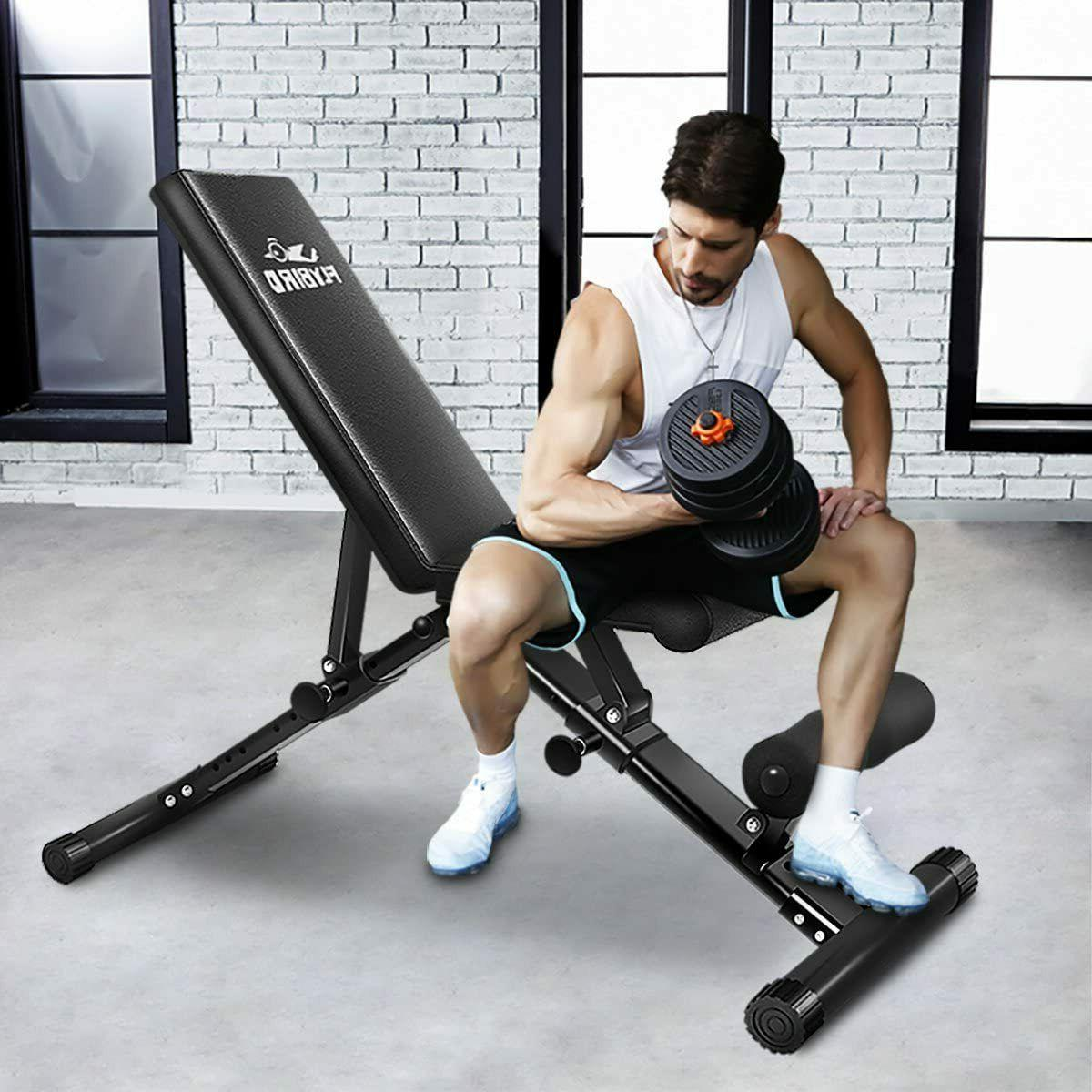 FlyBird Adjustable Weight Incline Foldable Full