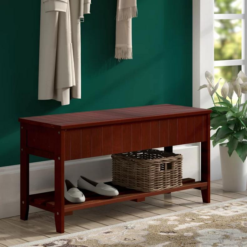 andover mills rumford wood storage bench