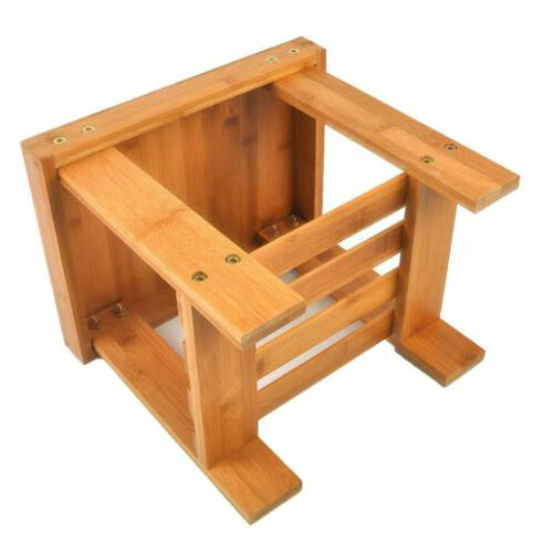 Children Bench Stool Bamboo Chair Foot Stool US