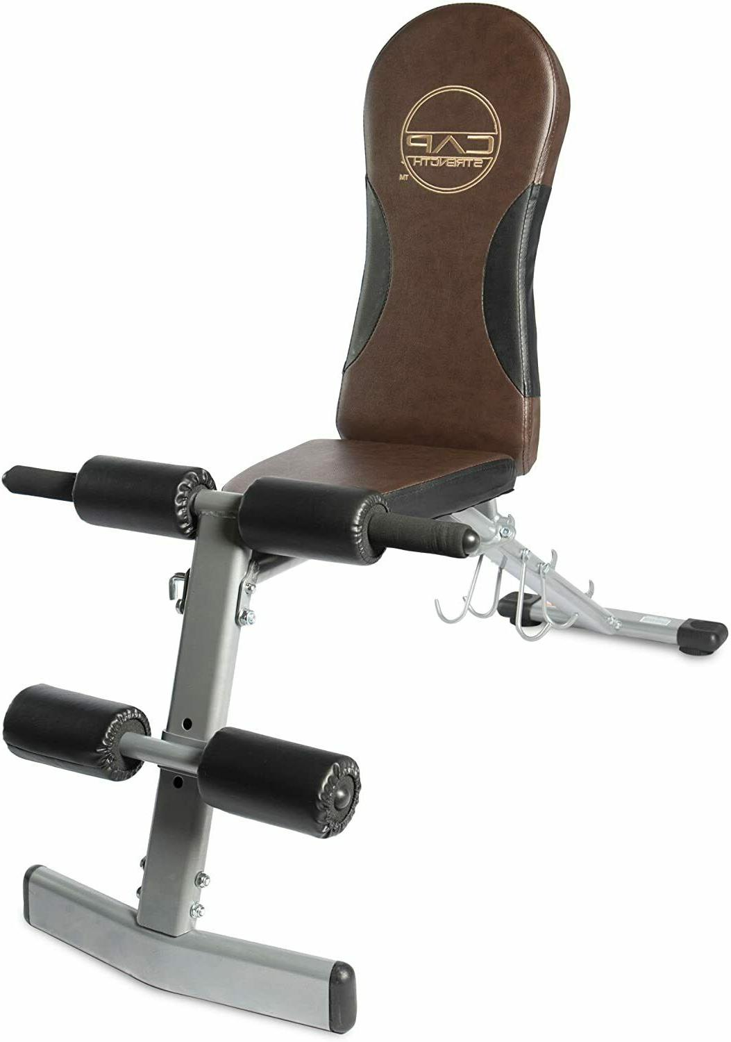Cap Barbell Flat Incline Decline Bench Strength Training Fit