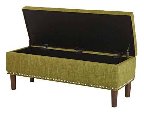 AVE Bryant Modern Vinyl with Nailhead Accents,
