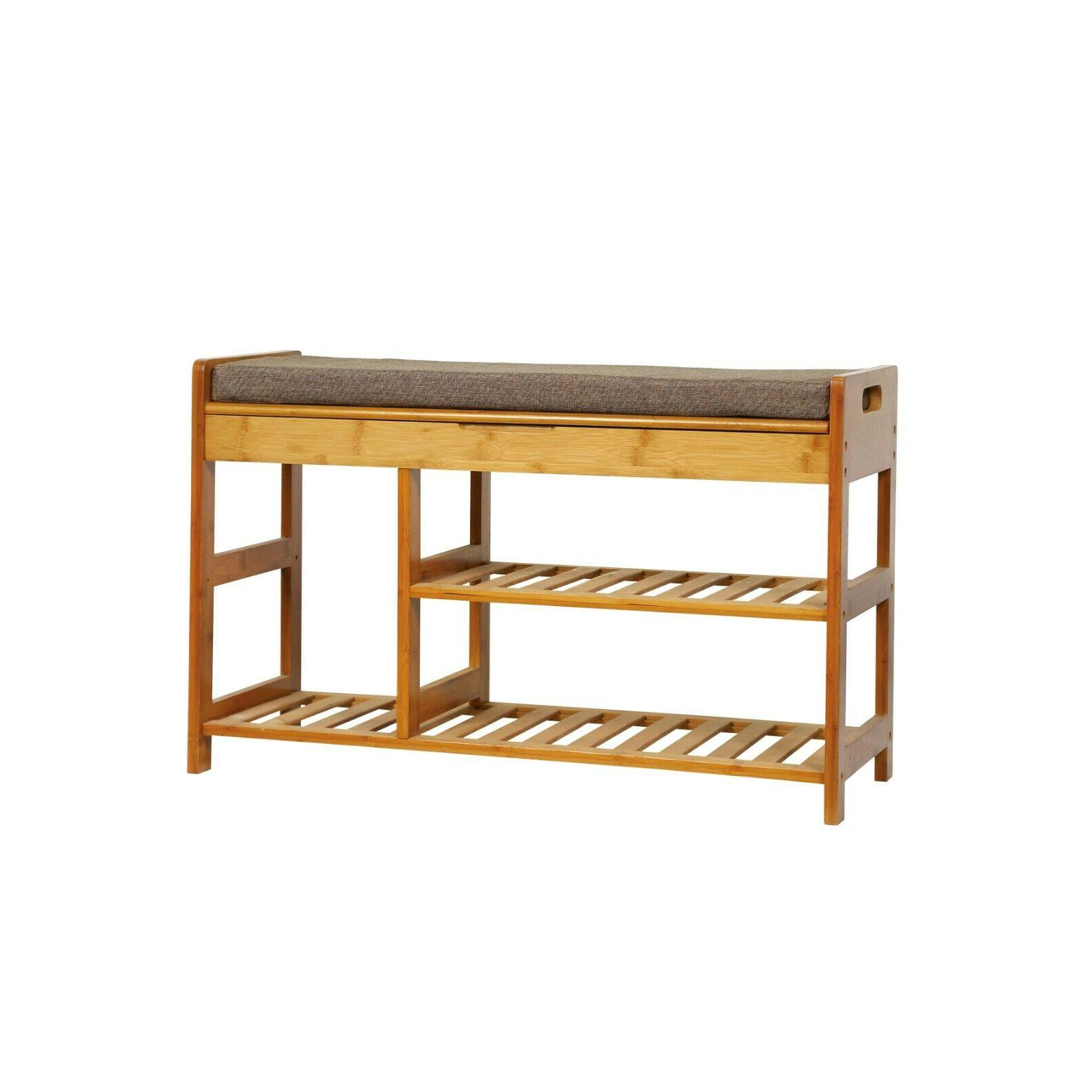 c and ahome bamboo shoe rack bench