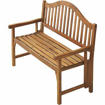 Classic-Style Foldable Bench w/