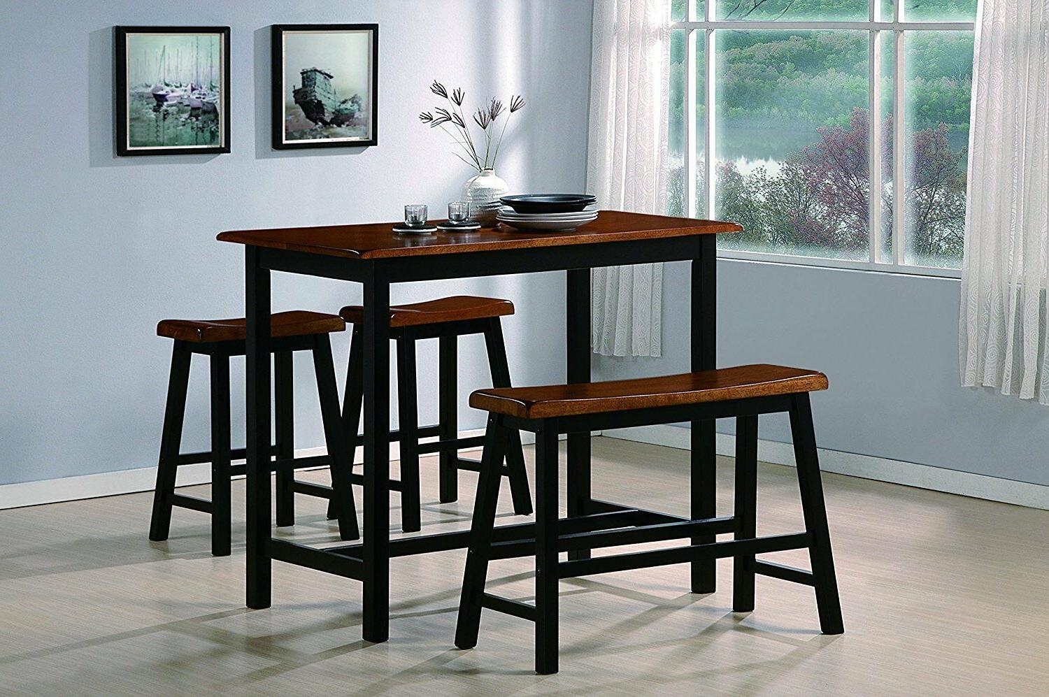 counter height tall table setdining roomkitchen nook