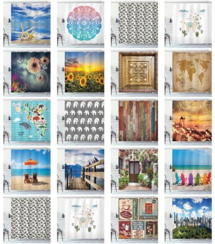 Decorative Shower Curtain Bathrooms by Ambesonne